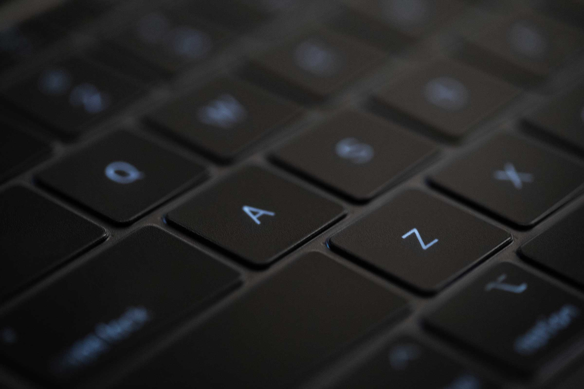 A close up of Moshi's ClearGuard keyboard protector for MacBook and its extreme thinness.