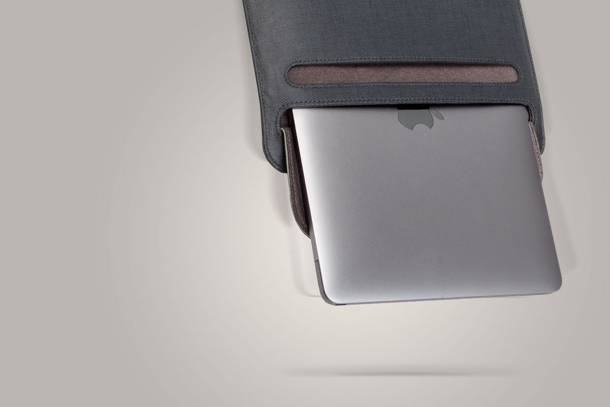 Muse's soft Terahedron™ microfiber inner lining cradles and cleans your iPad as you slide it in and out.