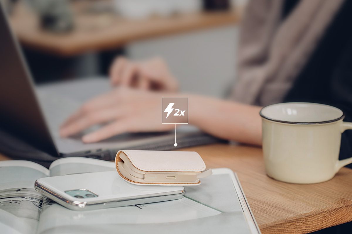 IonGo 5K gives you approximately 100% more battery life for your iPhone, keeping you productive and connected all day long.