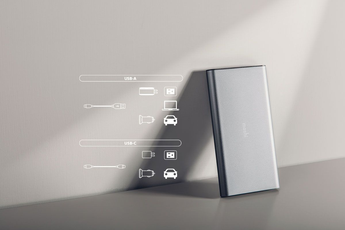 USB-C charge can be used with multiple devices, flexible charging