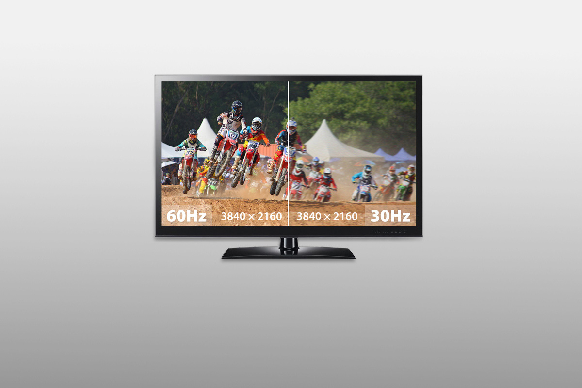 Supports 4K@60Hz Ultra HD resolution that is noticeably smoother and clearer than 4K@30Hz.