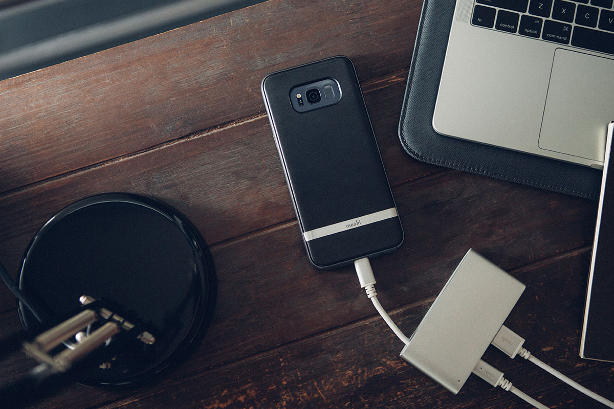 Charge your phone or connect an external USB hard drive