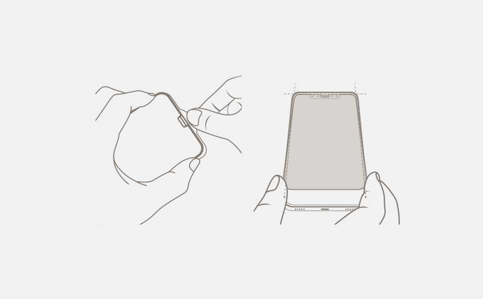 Step 3 Peel IonGlass from its backplate and align it to your device.