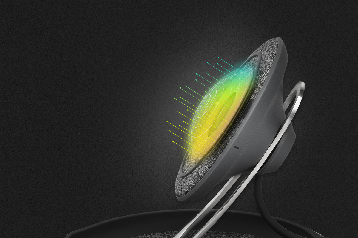 illustration of Q-coil's wireless charging capabilities