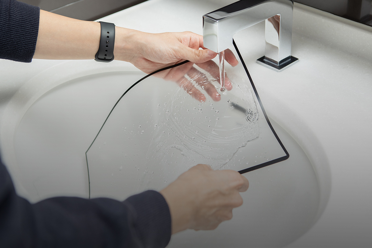 iVisor can be washed and reapplied repeatedly.