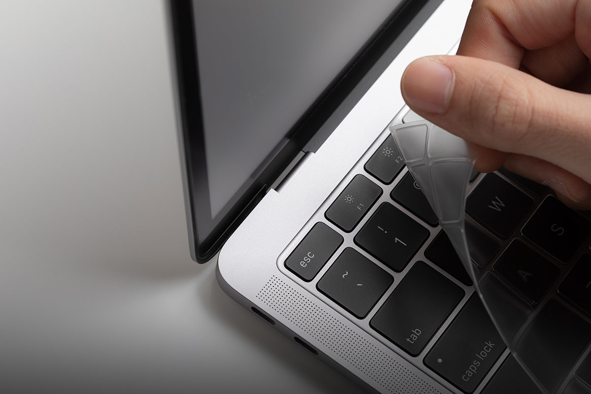 At 0.1 thin, ClearGuard is five times slimmer than a traditional keyboard protector and designed to be 'thinvisible' so you hardly notice it's there.