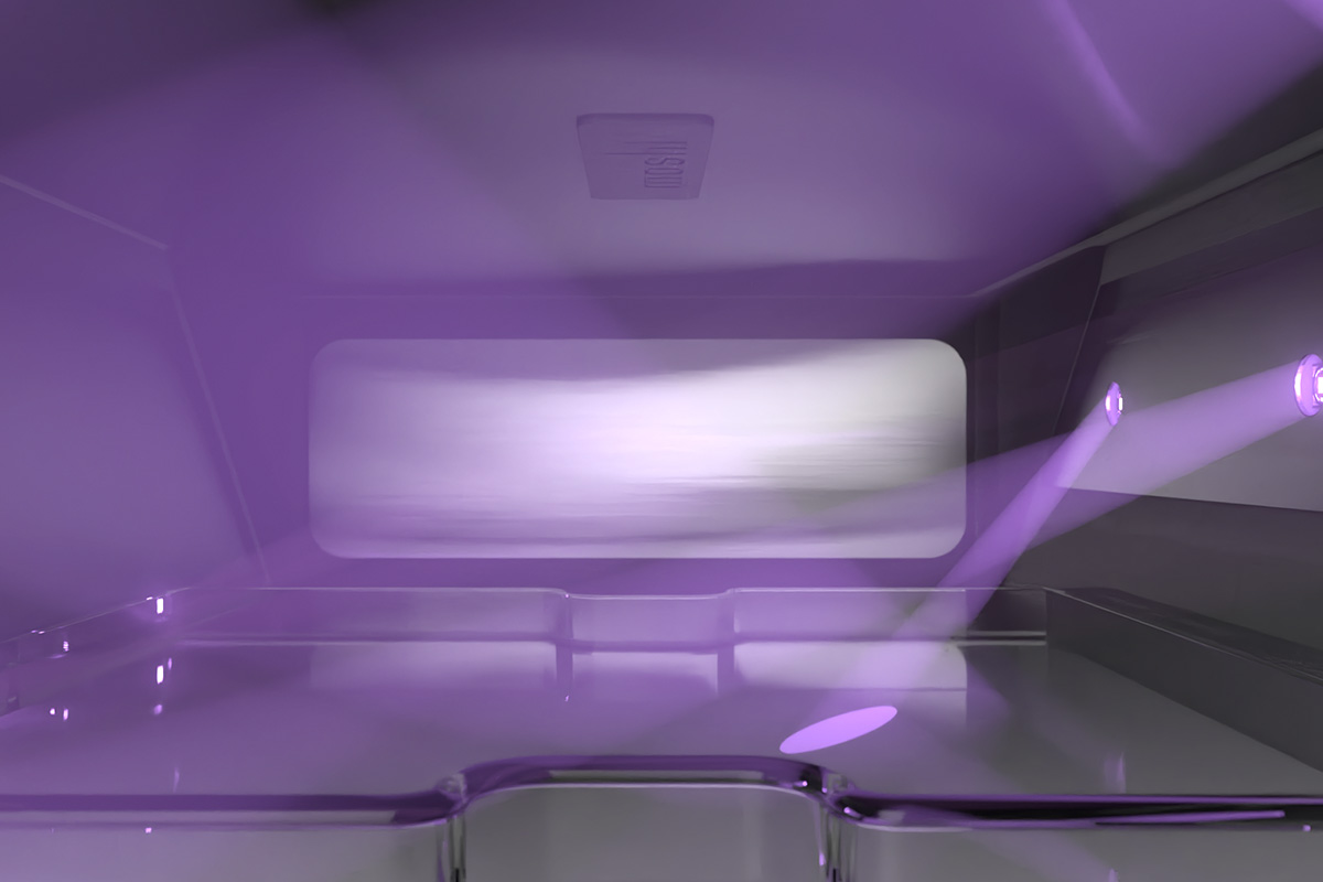 UV-C light is a safe, effective, and chemical-free method of neutralizing potential sources of contamination. Unlike traditional UV-C lamps, the LEDs used in Deep Purple™ are long-lasting, activate instantly, mercury-free, and do not degrade over time. Get more than 10 years of daily usage with Deep Purple™, which is also backed by our 10-year Global Warranty.