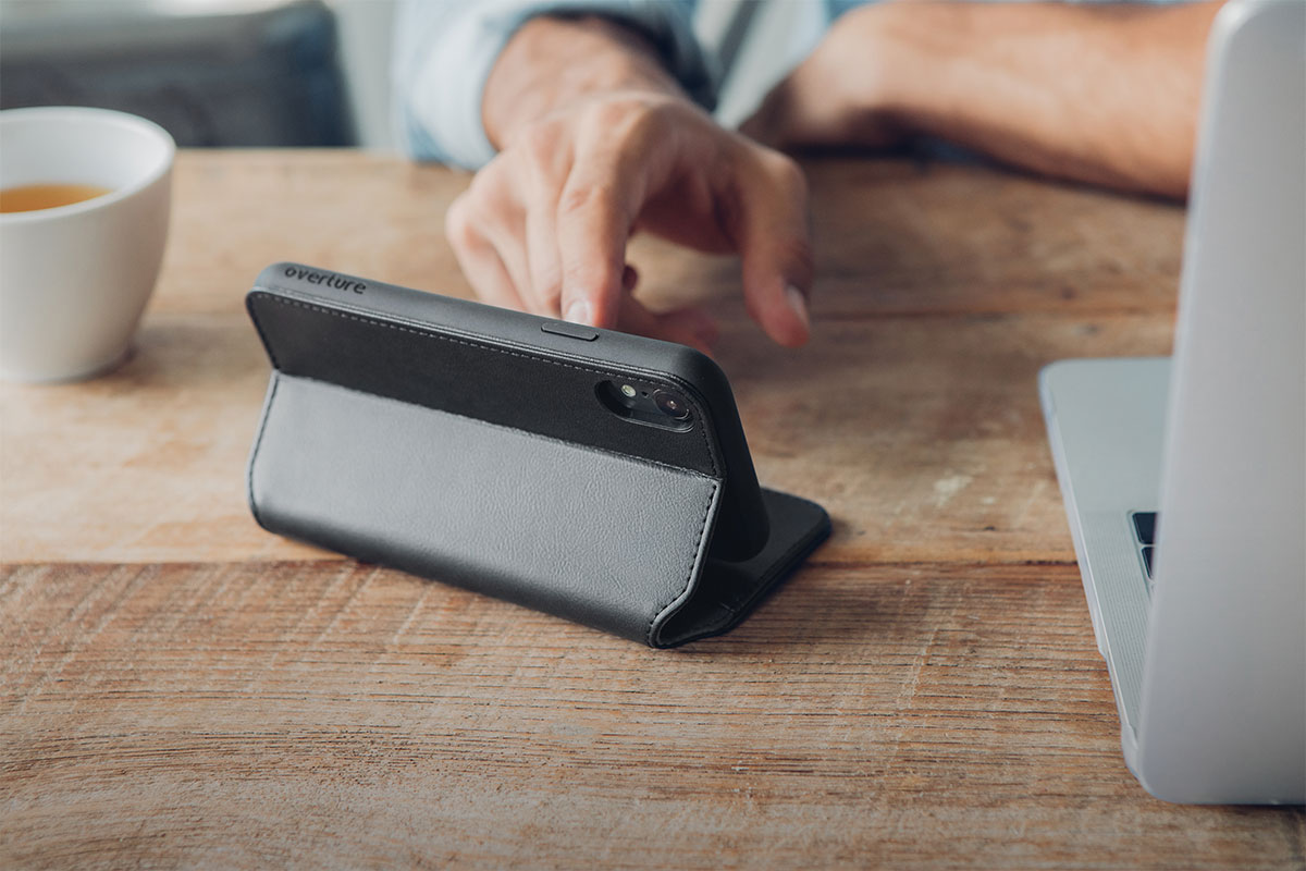 Fold your case into kickstand mode for hands-free video viewing.